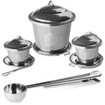 Kessaku Premium Stainless Steel 3 Size Tea Infuser Set Plus Scoop and Dr... - £11.62 GBP