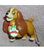Disney Lady & Tramp Lady with snowman Ornament - $35.00