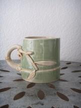 Ceramic BAMBOO Art Pottery Tea Cup Handmade Tha... - $36.99