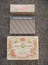 NEW 1980 Vintage Lot of 3 AVON Soaps Bar Gift Collection Set Anniversary... - $19.50