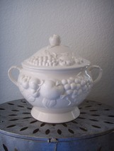 Vintage 1950s Large Ceramic Fruit SOUP TUREEN C... - $65.00
