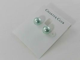 Charter Club Green Pear Stud Earrings - New - $11.88