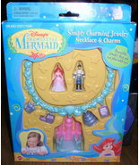 Disney Littel Mermaid Ariel & Philip Necklace Charms - $10.29