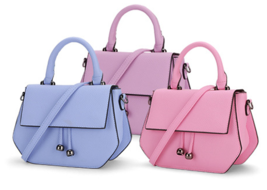 6 Mixed Color Leather Shoulder Bags Fashion Medium Messenger Bags Tote V363-1 - $38.99