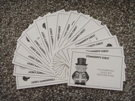 MONOPOLY Full Set 16 COMMUNITY CHEST CARDS Hasbro 2013 Replacement Parts... - $4.49