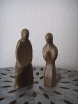 Set of 2 Mid Century Modern Couple Prayers Abst... - $36.99