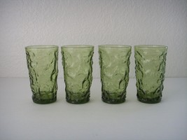 Set 4 Anchor Hocking Avocado Green Milano Lido ... - $26.99