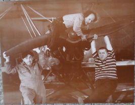 3 Stooges Plane Moe Larry Curly Vintage 8X10 Sepia TV Memorabilia Photo - $4.99