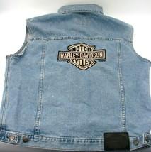2006 Harley-Davidson Motorcycles Denim Jean Jacket Vest Med Embroidered ... - $65.44