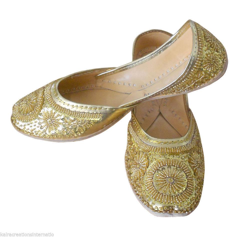 US 8-10.5 Traditional Indian Men Khussa Wedding Handmade Mojari//Flip-Flop//Shoes