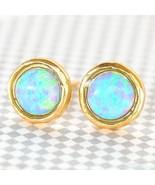 Gold Filled 14k Earrings Opalite Designer Warranty Stud New Lady Unique ... - $34.58