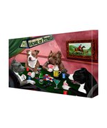 House of Pit Bull Dogs Playing Poker Canvas 11 x 14 - $69.29