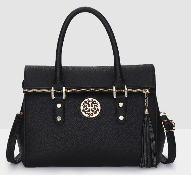 New Style!!Women Fashion Shoulder Bags Zipper Leather Handbags Tassel Bag L371-2