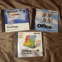 Microsoft Office 2000, Office 95, Front Page with Product Keys - $13.79