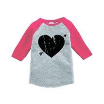 Custom Party Shop Kids Heart Happy Valentine's Day 2T Pink Raglan - $20.58