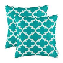 2Pcs CaliTime Teal Cushion Covers Pillows Shell... - $10.99