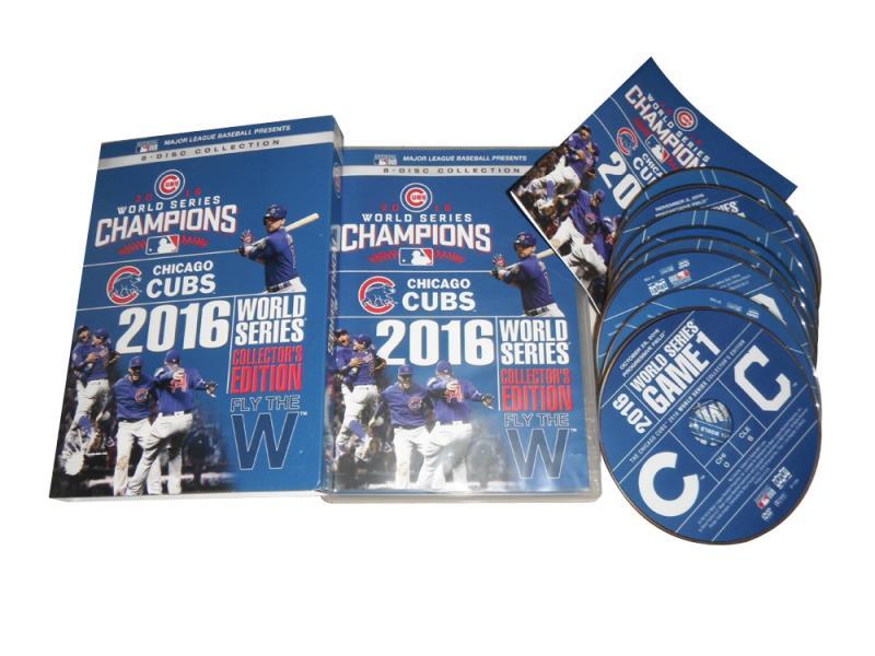 Chicago Cubs 2016 Champions World Series DVD Box Set 8 Disc Free Shipping