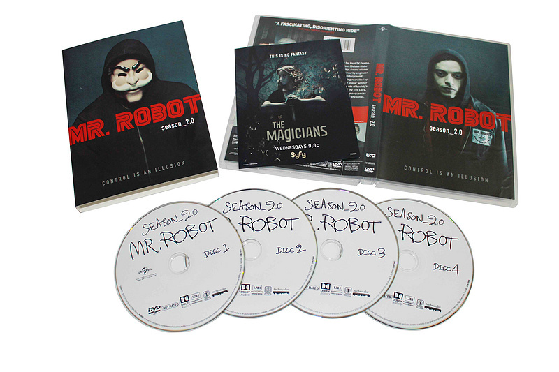Mr. Robot The Complete Second Season 2 DVD Box Set 4 Disc Free Shipping