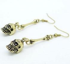 Vintage Unique Skull Hook Earrings(Color:Antique Bronze/Antique Silver) - $4.39