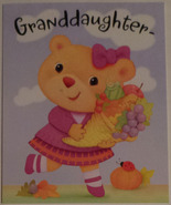 "Greeting Card Thanksgiving ""Granddaughter-"" - $1.50"