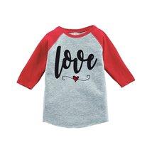 Custom Party Shop Kids Love Heart Happy Valentine's Day 2T Red Raglan - $20.58