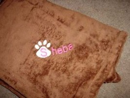 Personalized Pet Cat Kitten  Blanket 30 x 40 Tahoe Soft Fleece - $25.99