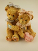 Beautiful Cherished Teddies Figurine Elizabeth & Ashley My Beary Best Fr... - $9.69