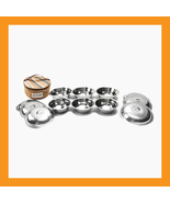 13pcs stainless steel camping dishes set picnic... - $21.00