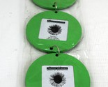 Wall Picture Frames set of 3 green circle attached hanging picture frames dangle