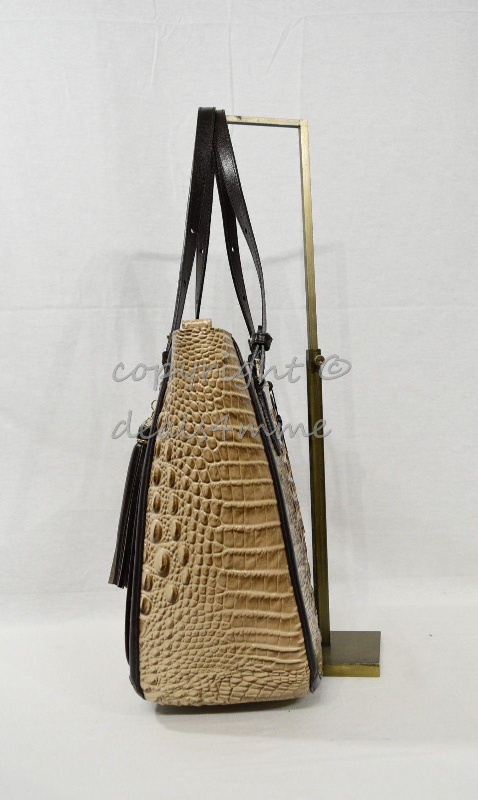 NWT  Brahmin Medium Lena Leather Tote/Shoulder Bag in Travertine Vermeer image 7
