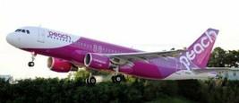 *Hasegawa 1/144 Peach Aviation Airbus A320 Model Car 10689 - $56.31