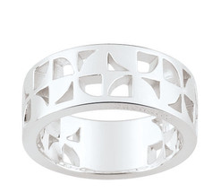 Ring Cacharel simple with triangular shapes (CAR374), Sterling Silver 0,925 - £39.97 GBP