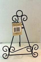 Tabletop Display Metal Easel Cookbook Plate platter tile Brown craft wed... - €8,16 EUR