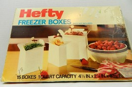 Vintage Hefty Freezer Boxes in original package... - $14.95