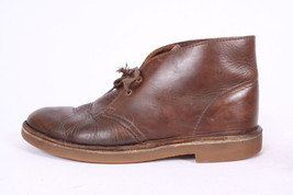 CLARKS Dark Oiled Brown Leather Chukka Lace Up Ankle Boots Mens Shoes Si... - $32.66