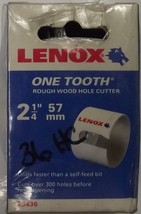 "Lenox 25436 One Tooth Rough Wood Hole Cutter 2-1/4"" 57mm - $11.88"