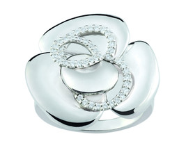 Ring Cacharel simple with flower and stones (CSR389Z), Sterling Silver 0... - £66.38 GBP