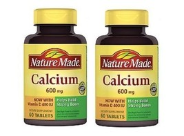 Nature Made Calcium with Vitamin D 600mg Tablets 2 Bottle Pack - $17.77
