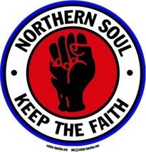 Northern Soul vinyl sticker 120mm diameter Wigan Casino Mod Twisted Wheel - $3.76