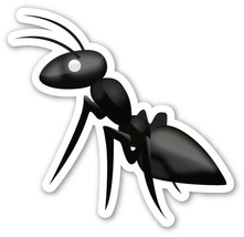 Emoji Ant vinyl sticker 100mm or 150mm nature insects ants soldier formi... - $3.00+