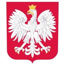 Poland crest shaped self cling vinyl window sticker 10x8.5cm Euro 2016 F... - $3.57