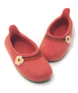 Special Order Coral Wool Slippers, House Shoes,... - $65.95