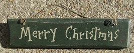 G5001MC - Merry Christmas Wood Hanging Sign  - $2.50