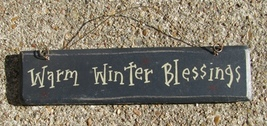 G5001WWB-Warm winter Blessings  Wood Hanging Sign  - $2.50