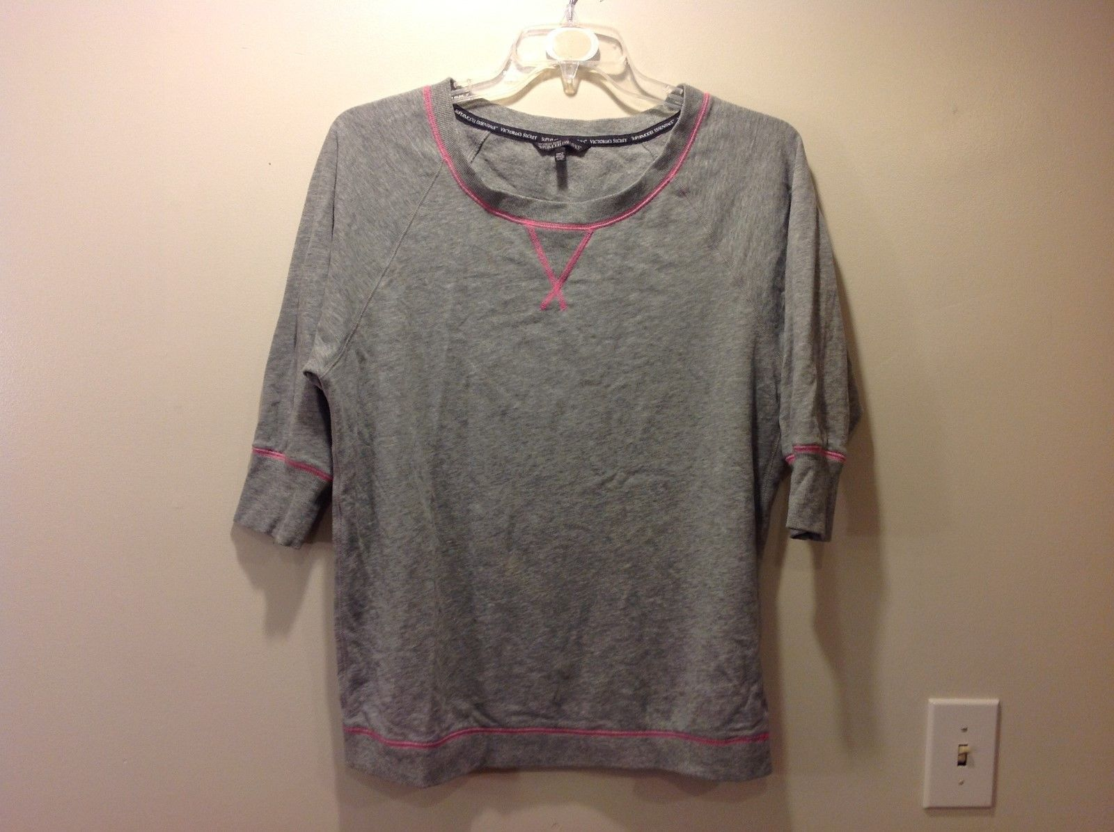 Victorias Secret Supermodel Accessories Light Gray Sweatshirt Sz Large