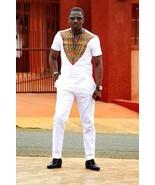 Dashiki Short Sleeve Shirt & Pants Men's African Clothing Men's Fashion ... - $85.00