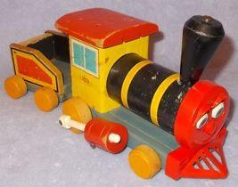 Vintage Fisher Price Wood Looky Chug Chug No 189 Train Toy 1958 - $17.95