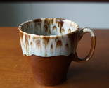 Vintage Canonsburg Pottery Mug Brown Drip USA Coffee Cup Stoneware