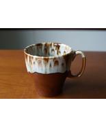 Vintage Canonsburg Pottery Mug Brown Drip USA Coffee Cup Stoneware - $9.74