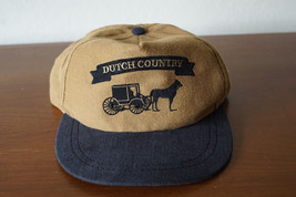 Vintage Dutch Country Brown / Black Snap Back Trucker Hat Made in USA - $24.14